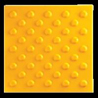 Тактильная плитка ПВХ «Конусообразный риф» (шахматный порядок)